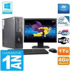 UNITÉ CENTRALE + ÉCRAN PC Fujitsu Esprimo E500 E85+ SFF Intel G640 4Go Di