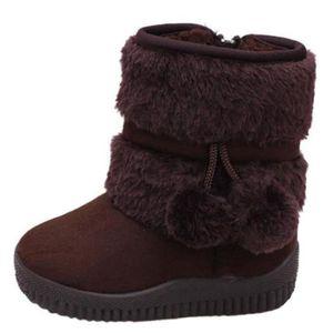Hiver Bottes Enfants En Peluche Chaussures Filles Garçon Bottines XFP-XZ095Violet25 D1lRVOOiLK