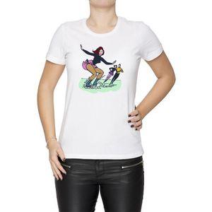 T-SHIRT Tee-shirt - La Glace Patinage Femme Cou D'équipage