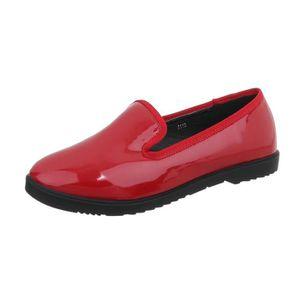 MOCASSIN Chaussures femme flâneurs la babouche rouge 36
