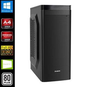 UNITÉ CENTRALE  PC Multimédia, AMD A4 2x3.7GHz, 8Go RAM, SSD