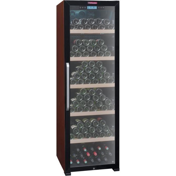 Vieillissement-236 bouteilles-Pose libre-A-L 59,5 x H 188 cm-Porte vitrée traitée anti UVCAVE A VIN