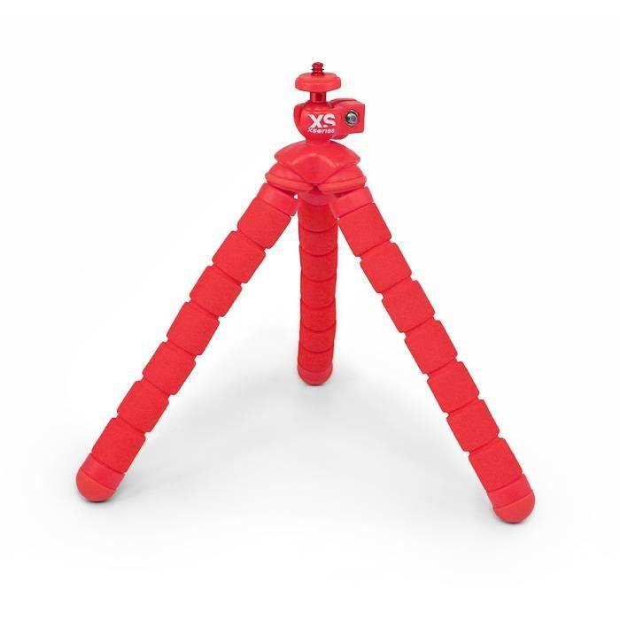 XSORIES Mini Trépied Flexible pour Caméra d'Action Bendy - Rouge