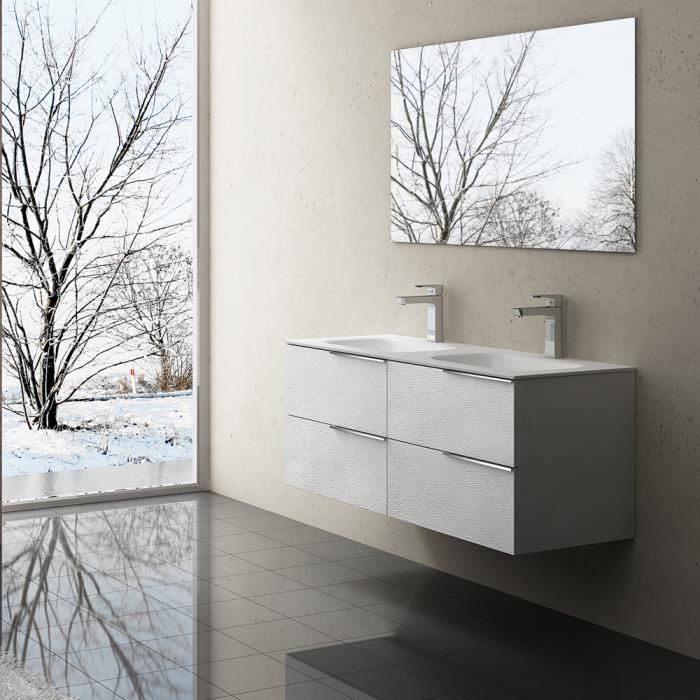 Meuble de salle de bains avec double lavabo ensemble de 2-pièces ...