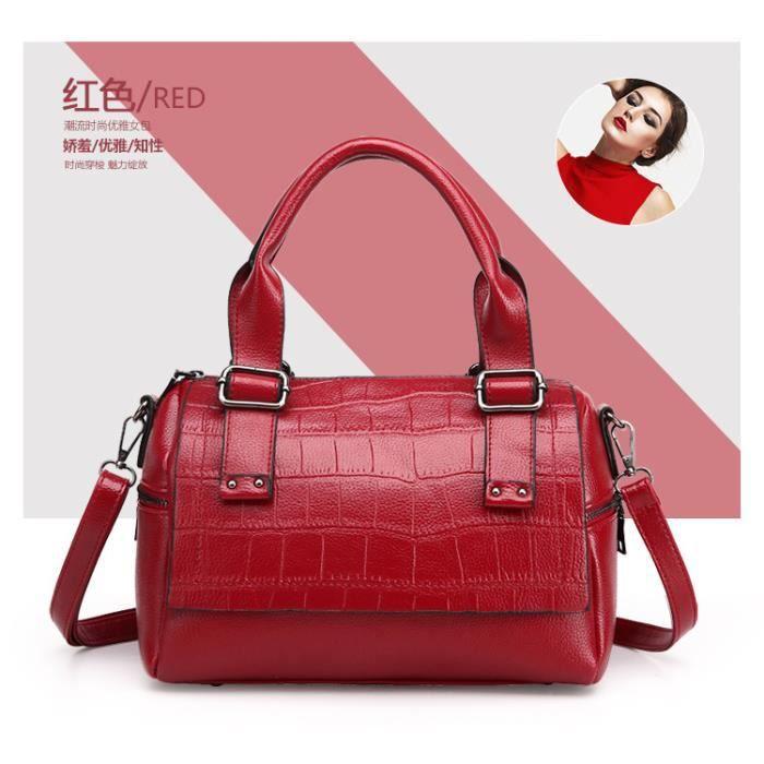 Sac à main sacs de mode Forfait de loisirs Femme Sacs Toutes les Saisons Polyuréthane Cabas pour Décontracté Sports Rouge496