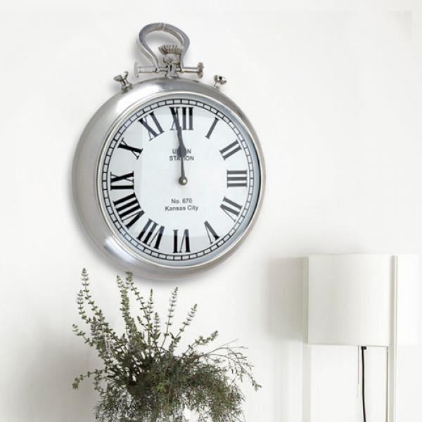 horloge murale gousset achat vente horloge pendule soldes d s le 10 janvier cdiscount. Black Bedroom Furniture Sets. Home Design Ideas