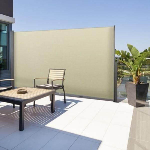 brise vue retractable sans fixation au mur. Black Bedroom Furniture Sets. Home Design Ideas