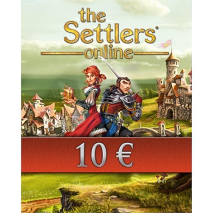 CARTE PRÉPAYÉE Ubisoft The Settlers Online 10€