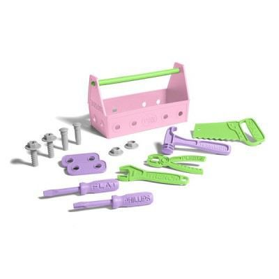 caisse outils green toys rose achat vente. Black Bedroom Furniture Sets. Home Design Ideas