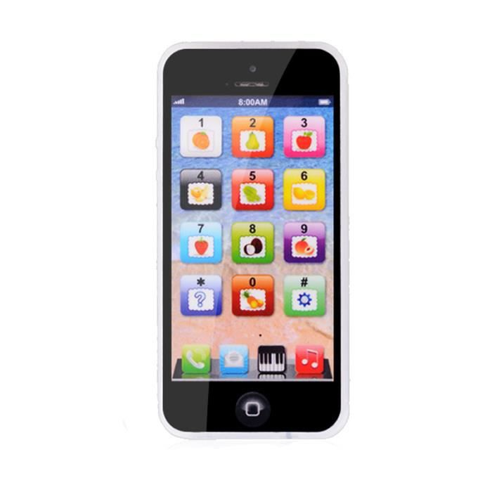 1x jouet t l phone portable pour enfant iphone apprentissage ducatif simulation wfr en blu ray. Black Bedroom Furniture Sets. Home Design Ideas