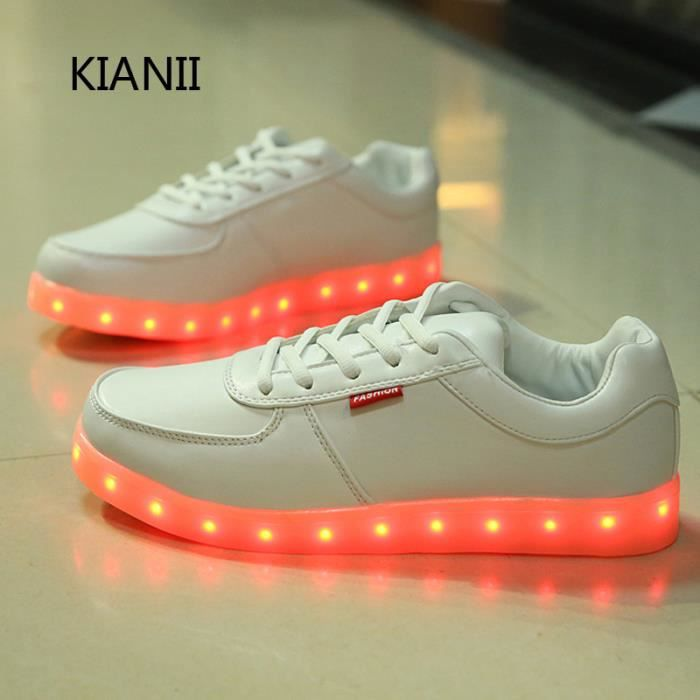 LED chaussures 7 multicolore de recharge USB,lé...