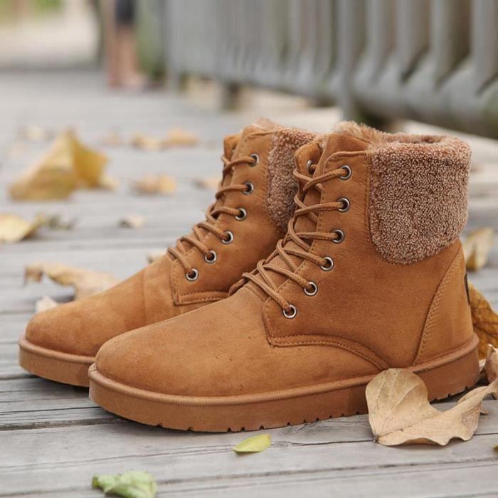 Bottes hiver Bottes de coton chaud pour hommes bottes de neige de mode