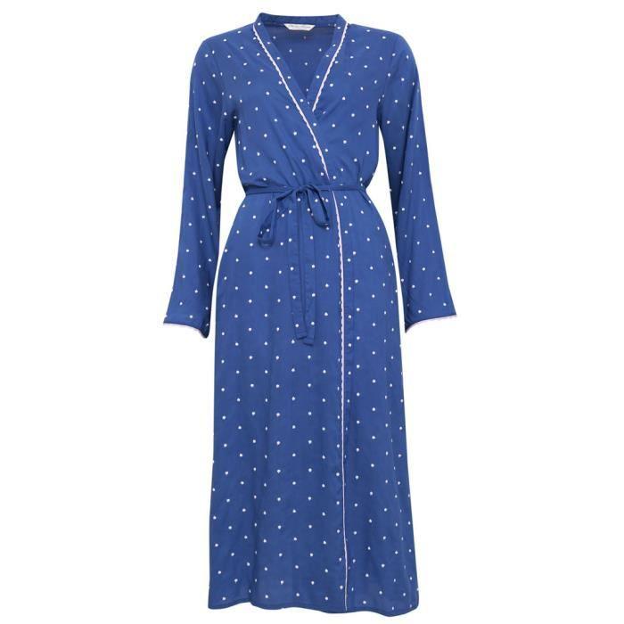 fcc842d094c Cyberjammies Nora Rose Robe de Chambre en Modal - Bleu et Blanc 1167 ...