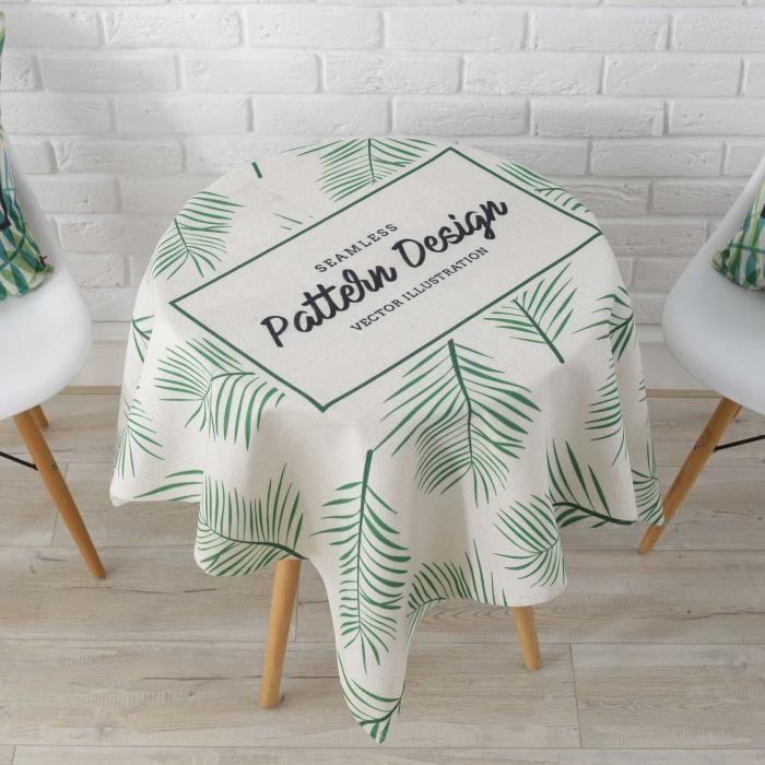 Lettre De 110cm 110 Imprimé Table Style Nappe Pour 18 Imperméable Maison Tissu Basse Ronde Balcon Feuilles cFl3TK1J