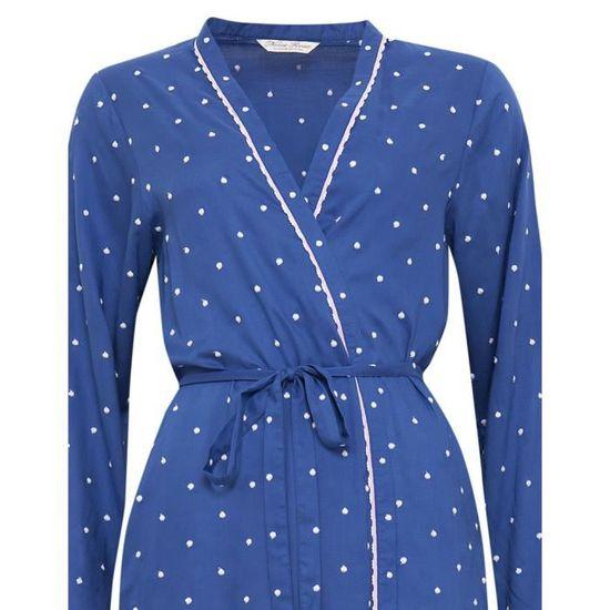 3092f3f27fd Cyberjammies Nora Rose Robe de Chambre en Modal - Bleu et Blanc 1167 Bleu  Blue and white - Achat   Vente robe de chambre - Cdiscount