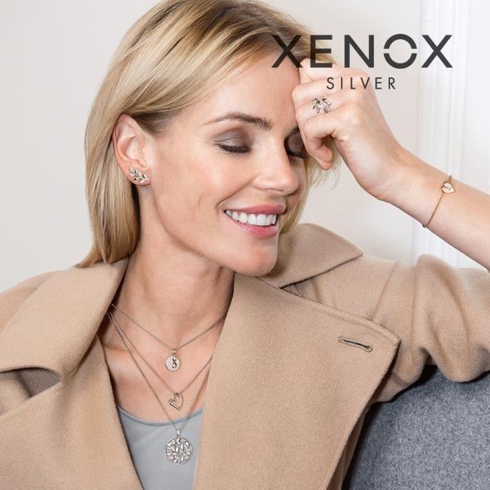 XENOX - XENOX XS8546 Femmes Créoles Moderne Classique Argent Réf 53893