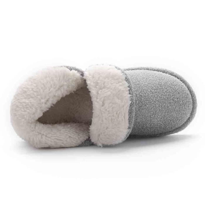 Pais Femmes Talkwemot2460 Fond Doux Enceintes Chaussons Pantoufles Hiver Coton Non slip tFTHxqawB