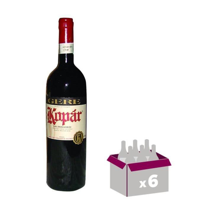 GERE Kopar Villany Vin de Hongrie - Rouge - 75 cl x 6VIN ROUGE