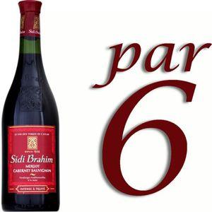 VIN ROUGE Vin du Maghreb Sidi-Brahim Rouge 75 cl. x6