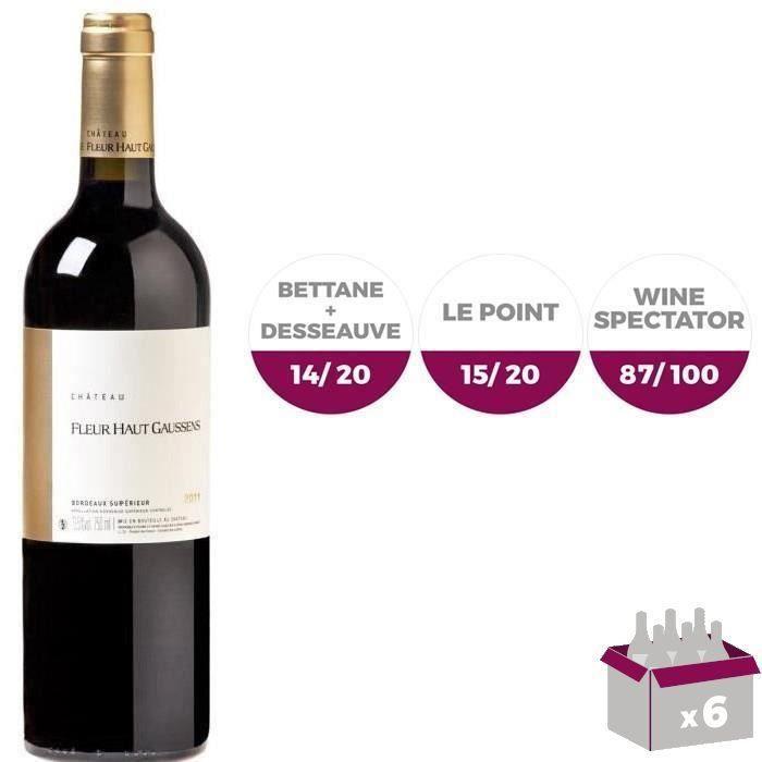 VIN ROUGE Château Fleur Haut Gaussens Bordeaux Supérieur ...
