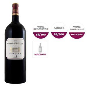 VIN ROUGE Magnum Château Bel air Haut Médoc CB 2011 x6