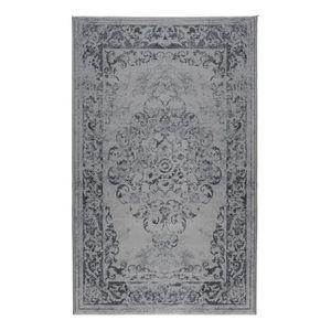TAPIS LUXUS Tapis de salon vintage gris 160x225 cm