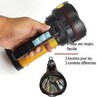 LAMPE DE POCHE Grosse lampe phare d'une puissance de 800 Lumen XQ