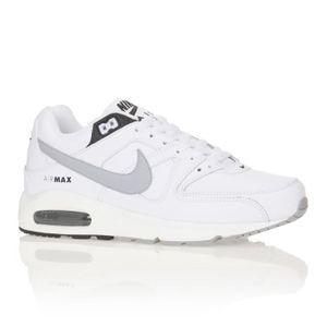 air max command leather blanc et noir