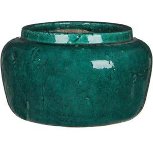 JARDINIÈRE - POT FLEUR  Cache pot rond intérieur déco Karl H16xD25 - Vert