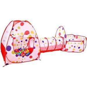 PISCINE À BALLES Tente de Jeu Enfant en 3 Pièce/Tente à Balles avec