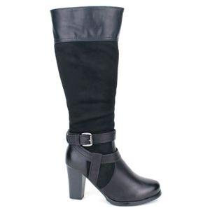 BOTTE botte, Bottes Noir Chaussures Femme, Cendriyon