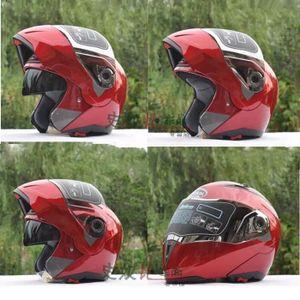 CASQUE MOTO SCOOTER Rouge  M-XXL casques de moto anti-poussière