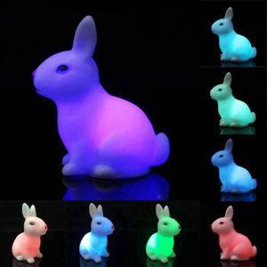 u lampe led couleurs changeante led de petite lapin enfant cateau jouet achat vente. Black Bedroom Furniture Sets. Home Design Ideas