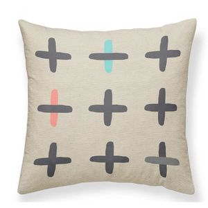 COUSSIN TODAY Coussin Canvas Hippie Chic - 40x40 cm - Moti