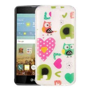 COQUE MP3-MP4 Coque pour LG K7 Amour Owls Pattern IMD Workmanshi