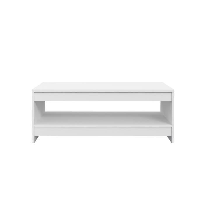 FINLANDEK Table basse MIDTOWN - Contemporain - Décor blanc mat - L 94.5 cm