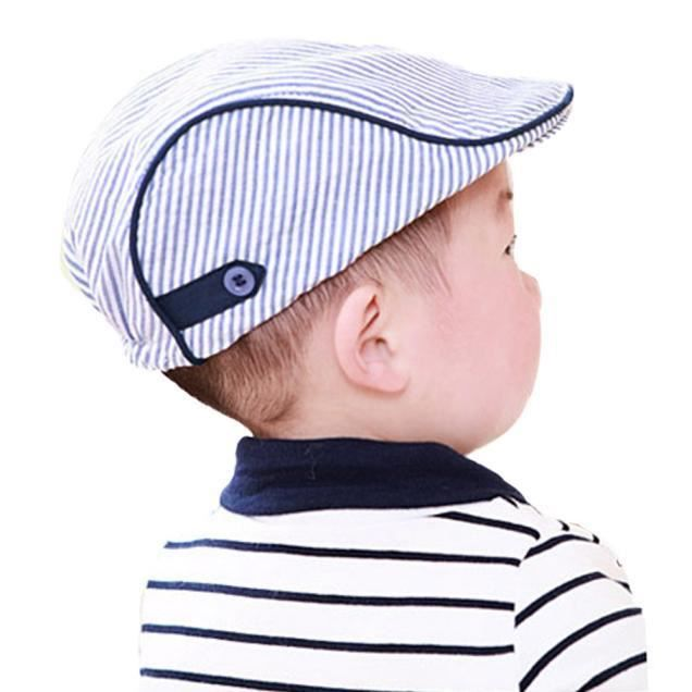 Benjanies®Chapeau de béret bonnet de baseball mignon bébé fille garçon  enfant Bleu ZJC1012136 c3415b71728