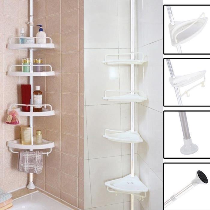 Salle de bain Baignoire Douche Caddy Porte d\'angle étagère rack  Organisateur accessoires yel1698 sky2092