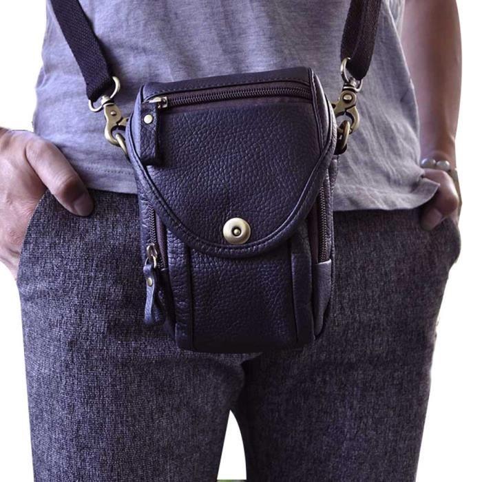 Leather Pack Mens Fanny Messenger Mini Satchel Belt Vintage Bag rdoCxeBW