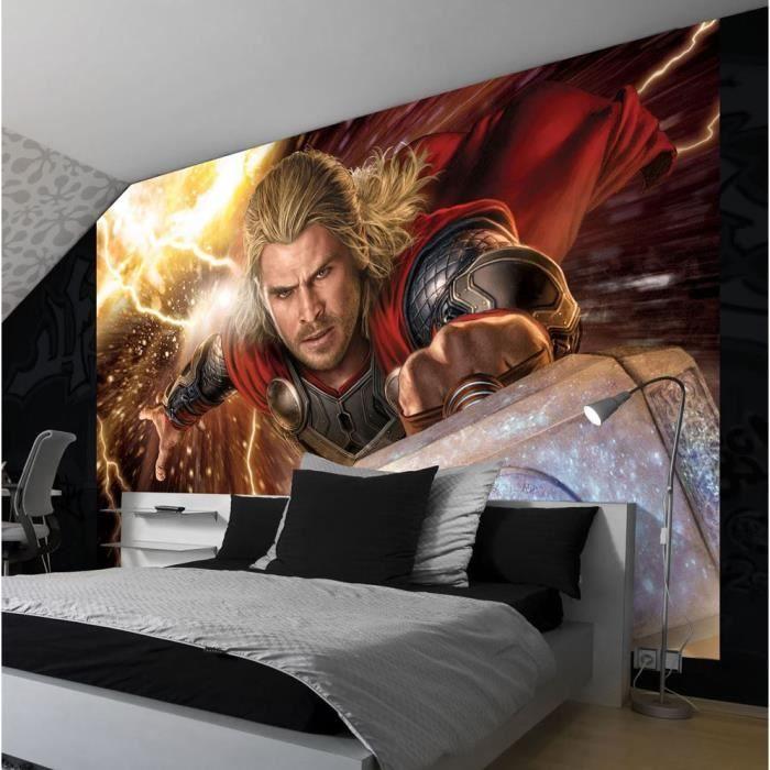 Papier Peint Géant Marvel Avengers Thor 416x254 Cm Pour Chambre D