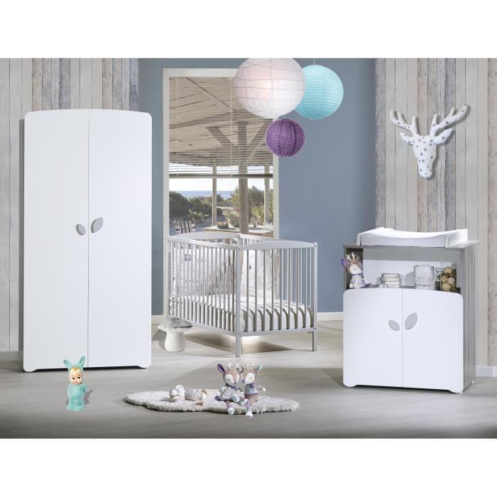 CHAMBRE COMPLÈTE BÉBÉ BABY PRICE New Leaf Chambre Bébé Complète - Lit ba
