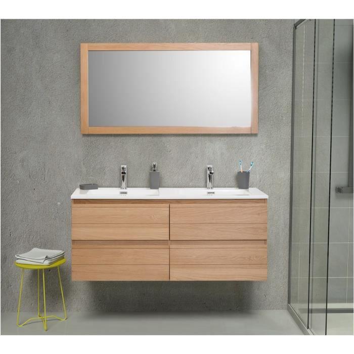 Meuble salle de bain bois massif achat vente pas cher - Meuble salle de bain en bois massif ...