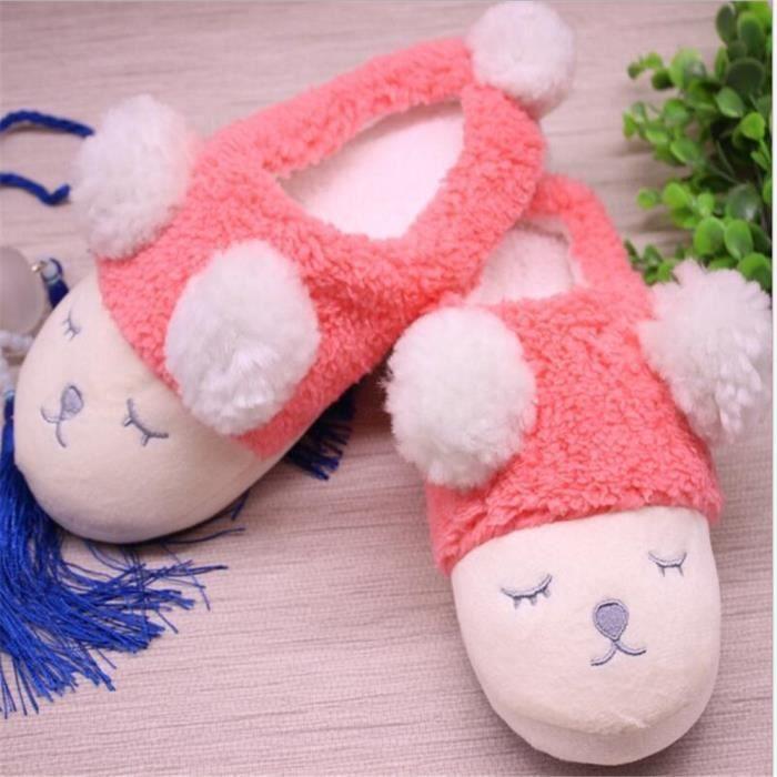 Mouton Chausson Mignon Antidérapant Durable Femme Chaussons Plus De Couleur Coton Hiver Chaussure Nouvelle Haut qualité Mode jyx381