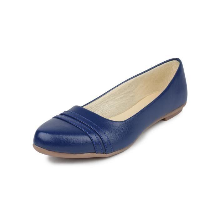 femmes occasionnels napa en cuir plat officiel et quotidienne porter du ventre chaussure y-563 ZFU33 Taille-42