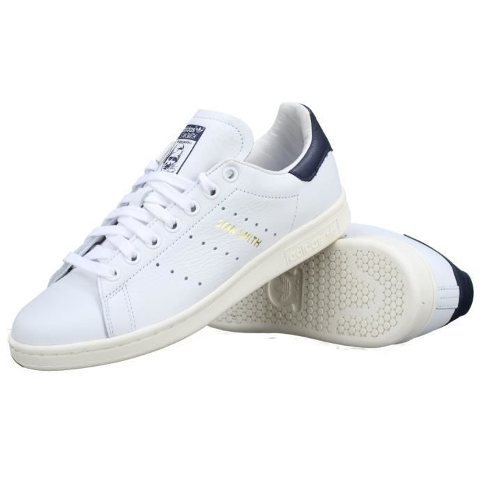 innovative design 1fc22 e30da BASKET Basket Adidas Stan Smith Cq2870 Blanc  Marine