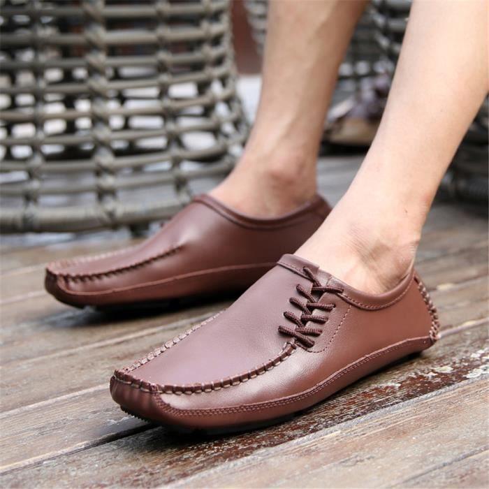 Antidérapant Homme Léger Cuir En Mode Chaussures Derbies Poids Haut Qualité qnOPBwaz