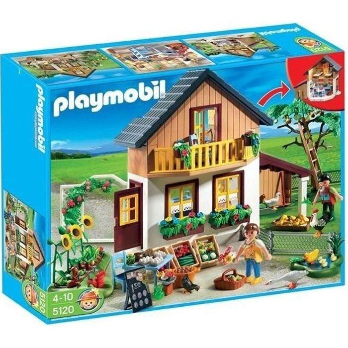 Playmobil 5120 maison des fermiers et march achat vente univers miniature cdiscount - Toute les maison playmobil ...