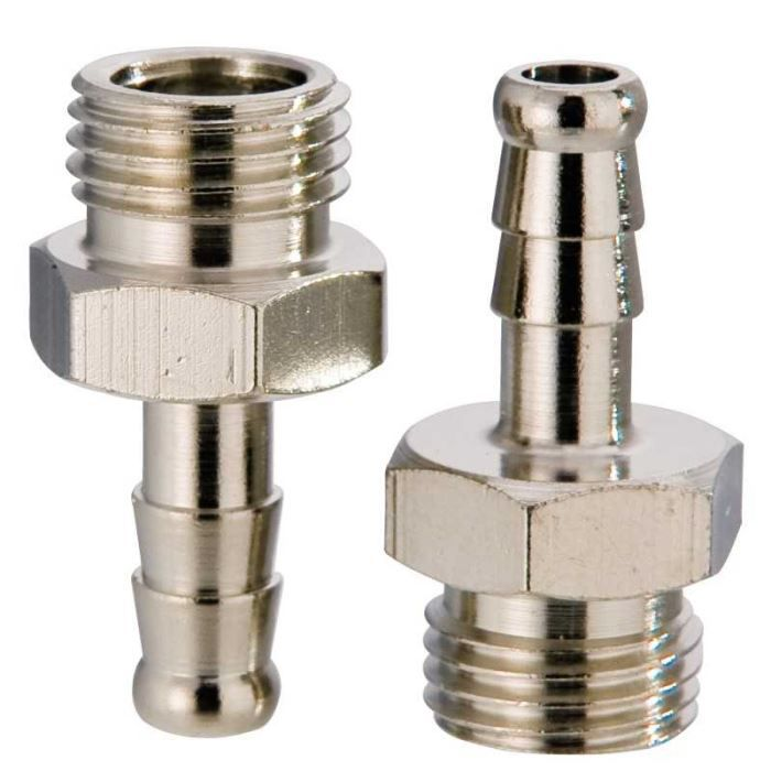 MANCHON - RACCORD - COUDE Raccords pneumatiques tétine/vis. Connection M …