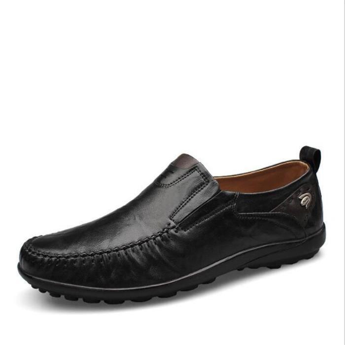chaussure homme De Marque De Luxe 2017 ete Moccasin hommes Confortable chaussures cuir Nouvelle Mode Grande Taille 46