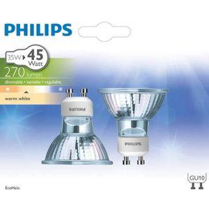 AMPOULE - LED PHILIPS Lot de 2 Ampoules EcoClassic 35W GU10